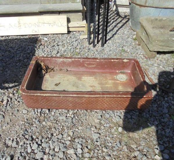 Reclaimed Burgundy Salt Glaze Sink