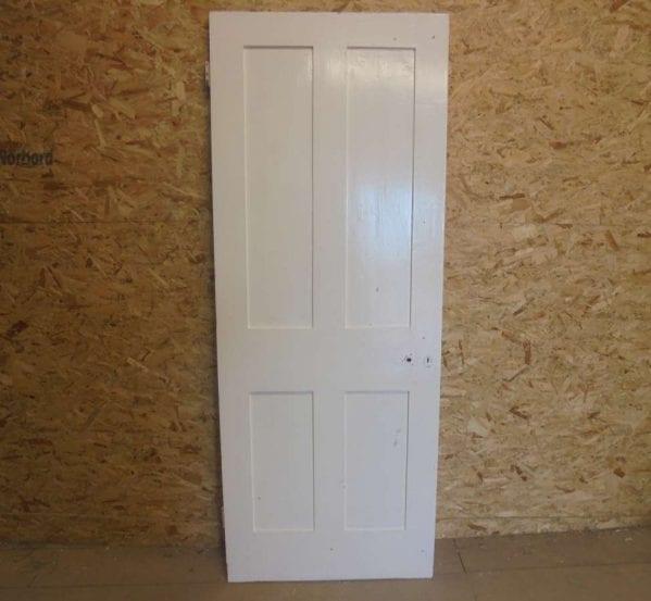 Reclaimed 4 Panel Door Painted
