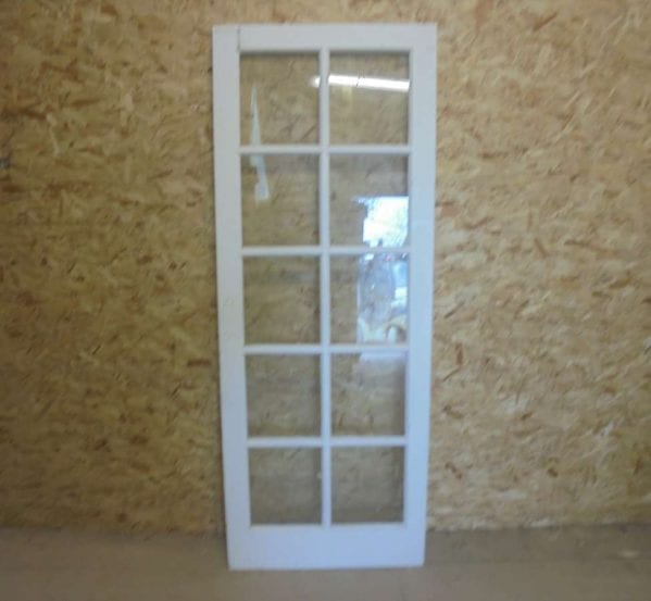 Reclaimed White Full Glazed Door