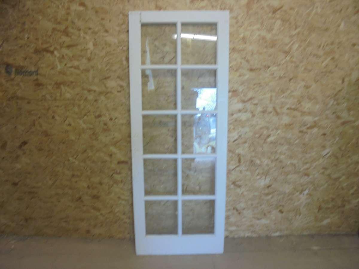 Reclaimed White Full Glazed Door