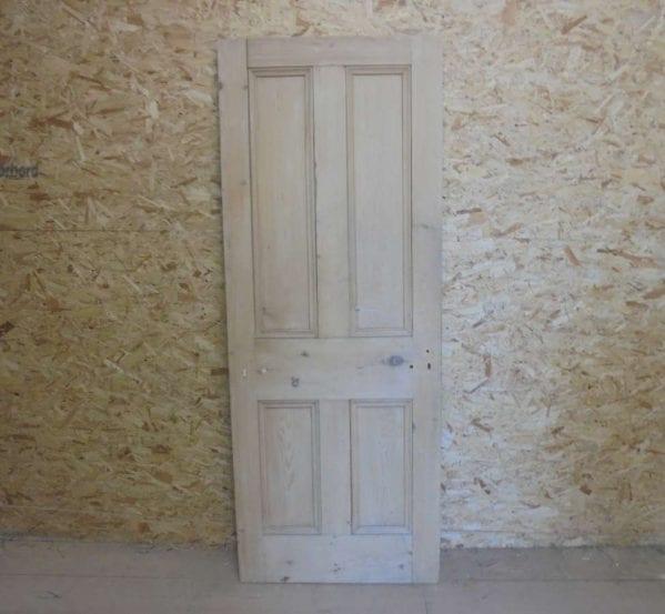 Reclaimed Stripped 4 Panel Beaded Door