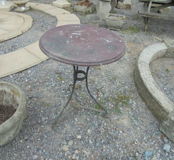 Reclaimed Round Metal Table