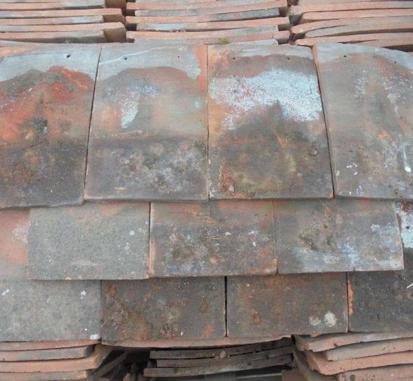 Reclaimed Orange Clay Nib Tiles Weathered