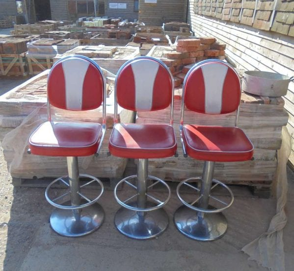 Reclaimed American Diner Style Stools