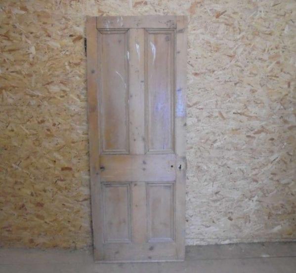 Stripped 4 panel reclaimed door