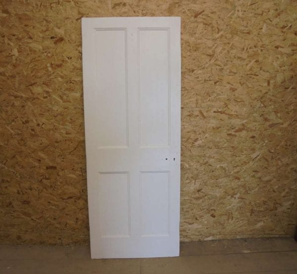 White Painted Reclaimed 4 Panel Door
