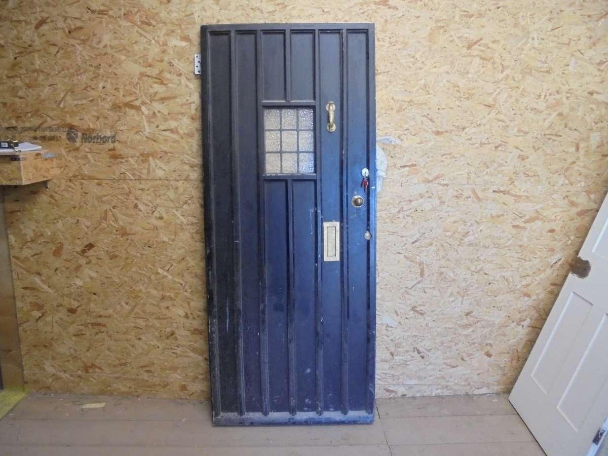 Reclaimed Painted Glazed Front Door