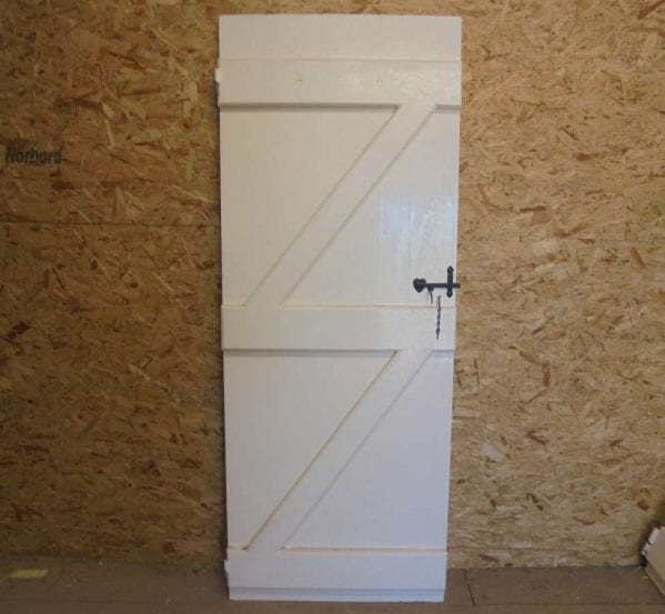 Reclaimed White Ledge and Brace Door