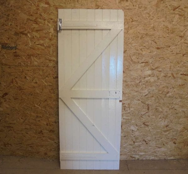 Reclaimed Painted Ledge and Brace Door