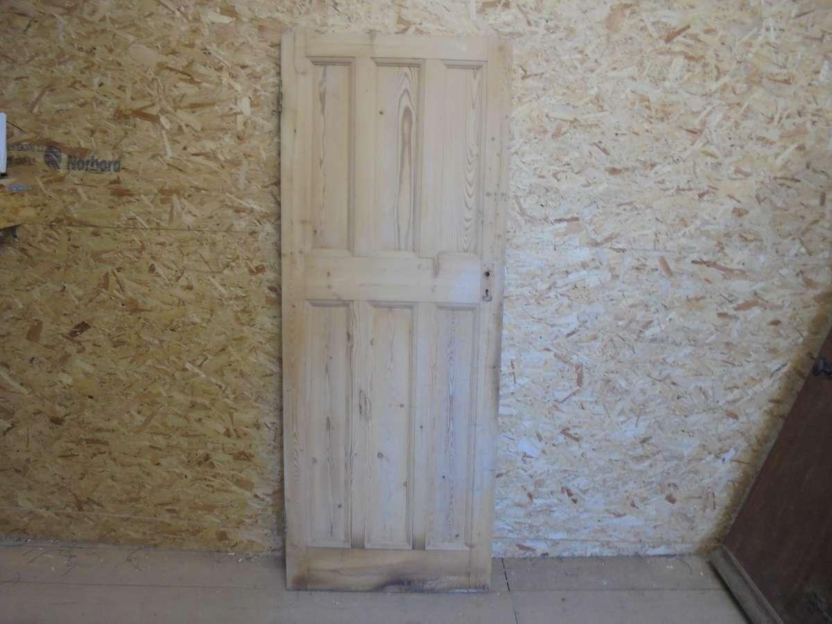 Reclaimed Pine 6 Panel Door (3 Over 3)