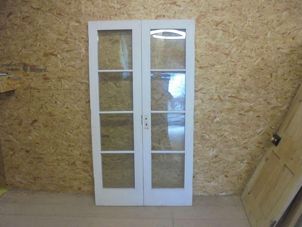 Reclaimed Pair of Glazed Doors