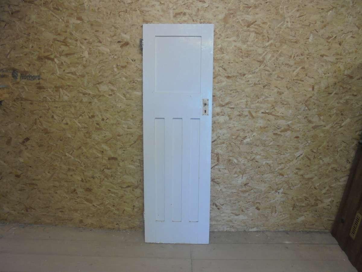 Reclaimed 1 Over 3 Panel Painted Door