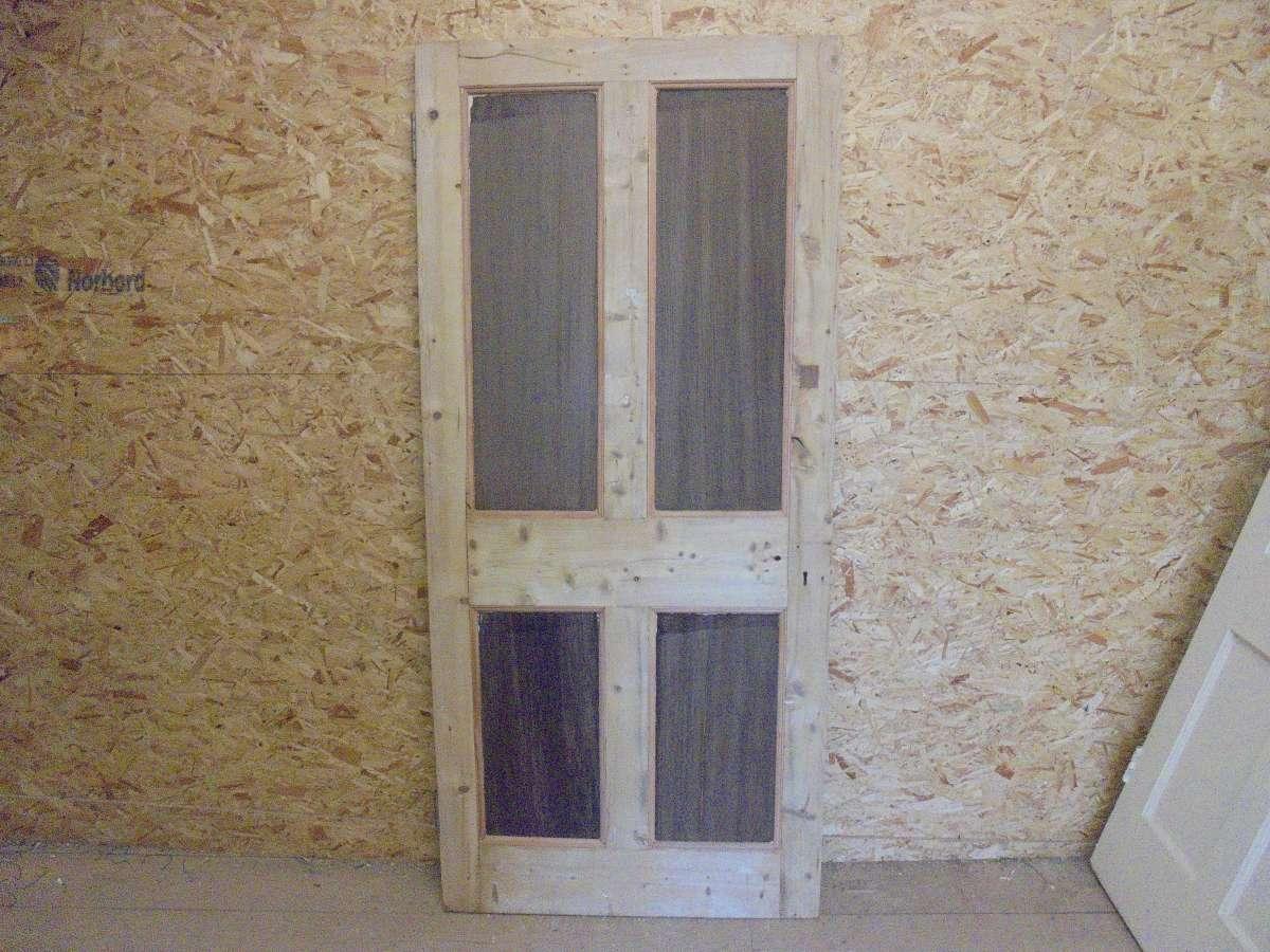 Beaded Pine Reclaimed 4 Panel Door
