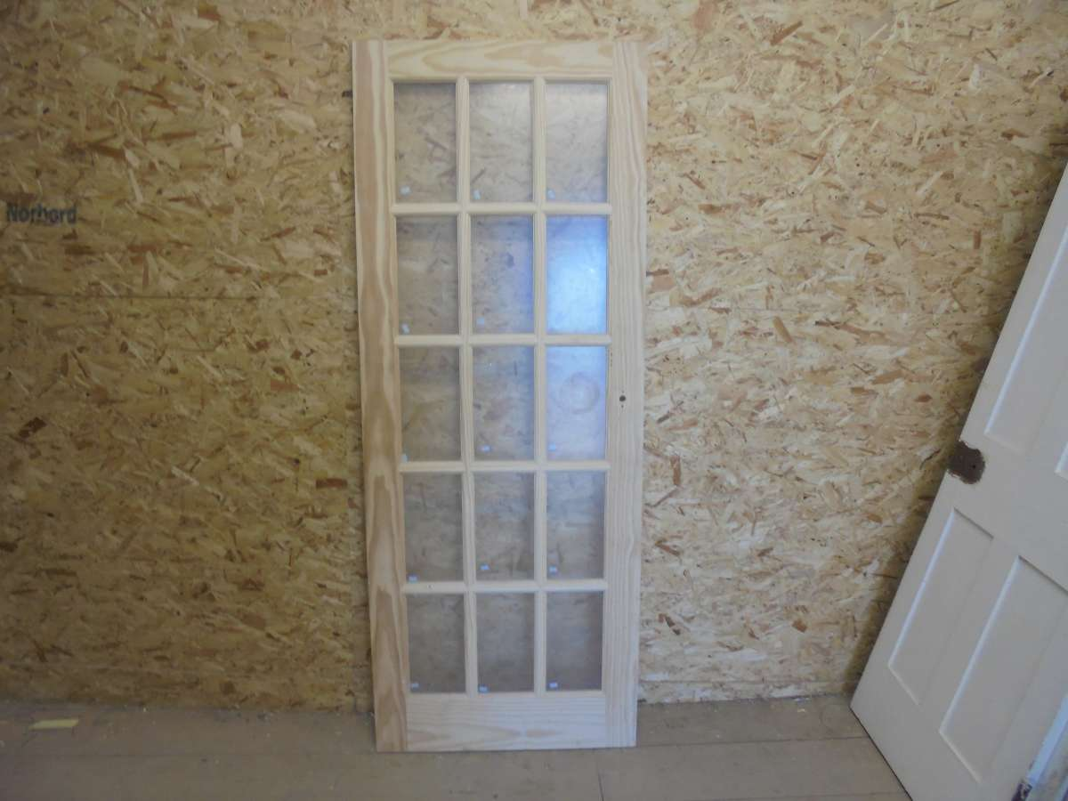 Reclaimed Stripped Glazed Door