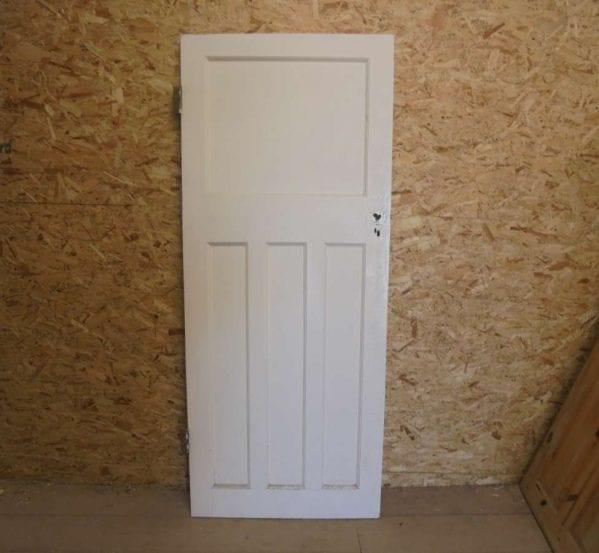 Reclaimed 1 Over 3 Painted Panel Door
