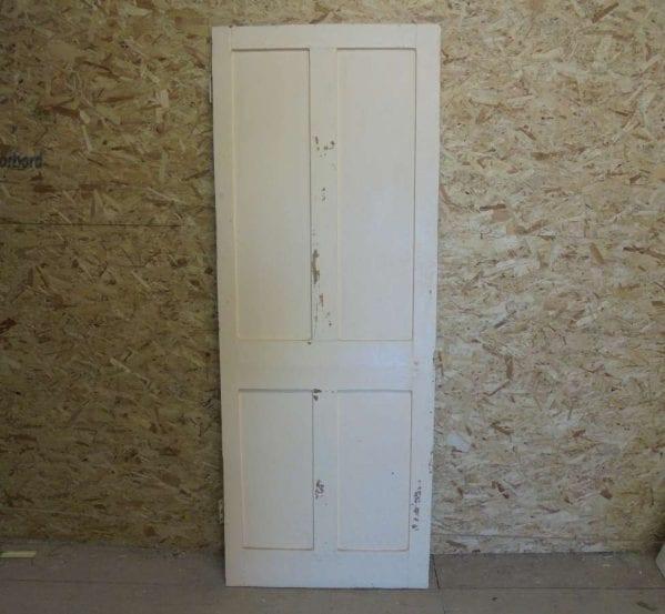 Reclaimed 4 Panel Half Stripped Door