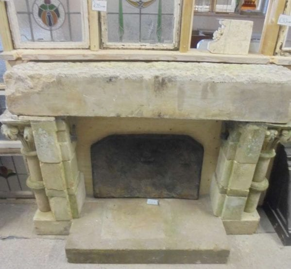 reclaimed stone fire