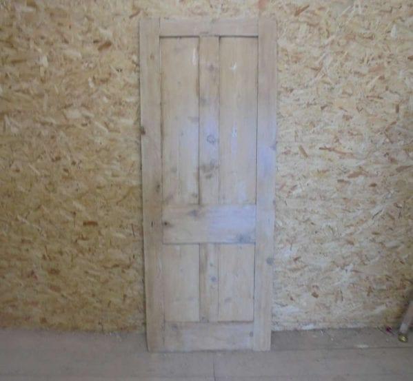 Reclaimed Stripped 4 Panel Door