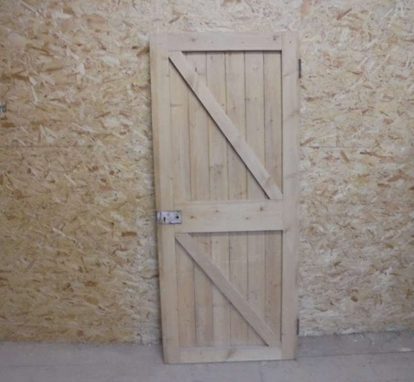 Reclaimed Framed Ledge and Brace Door