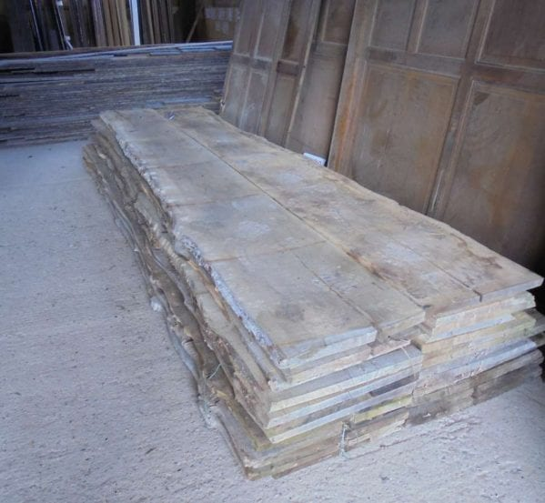 Reclaimed Wavy Edged Oak Boards