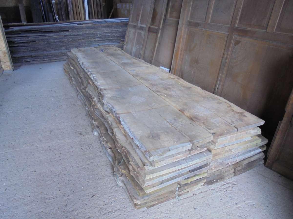 Reclaimed Wavy Edged Oak Boards