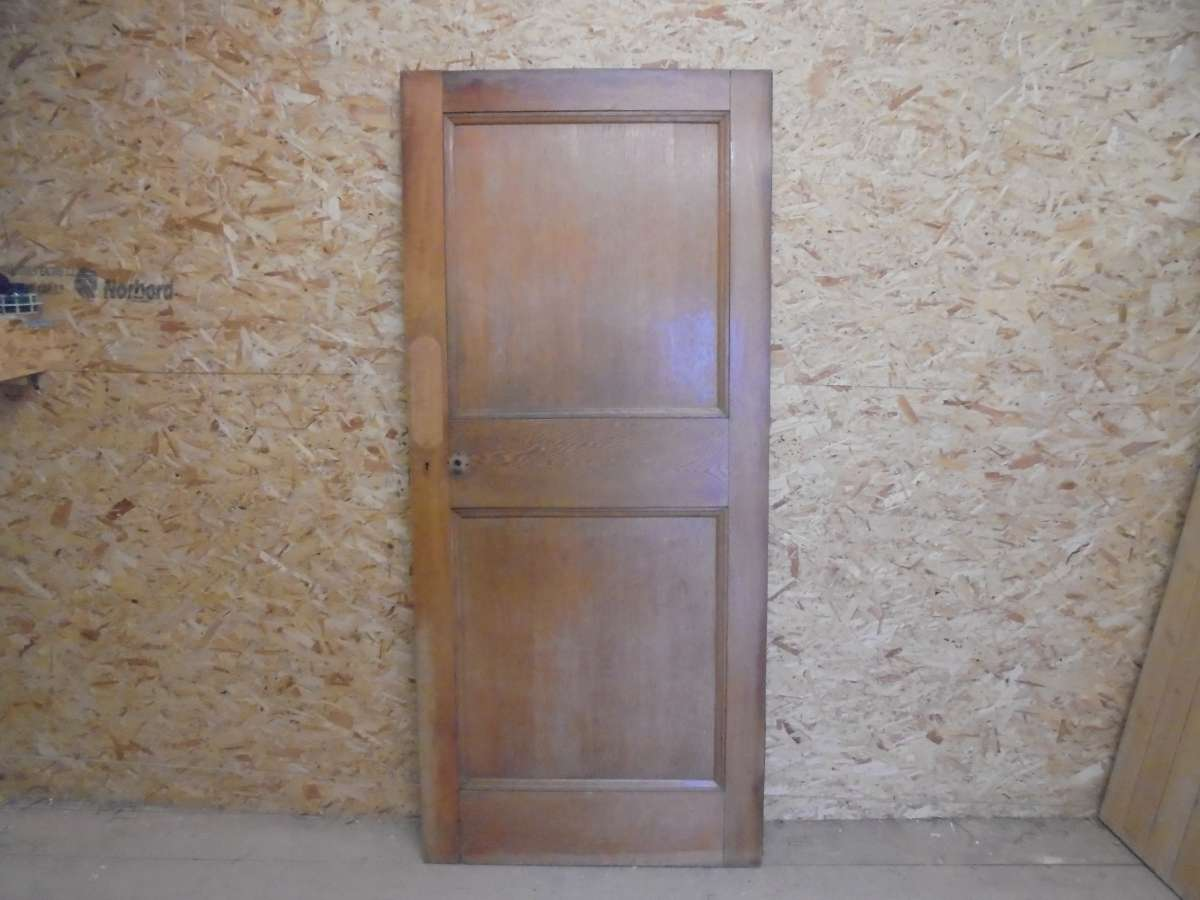 Reclaimed 1 Over 1 Beaded Oak Door