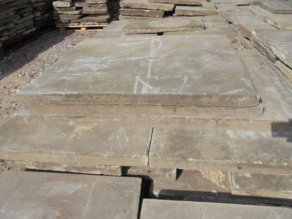 Straight edged york stone