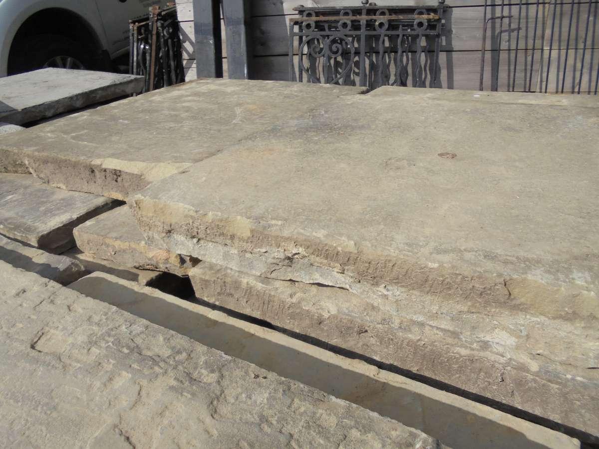Reclaimed york stone paving slabs