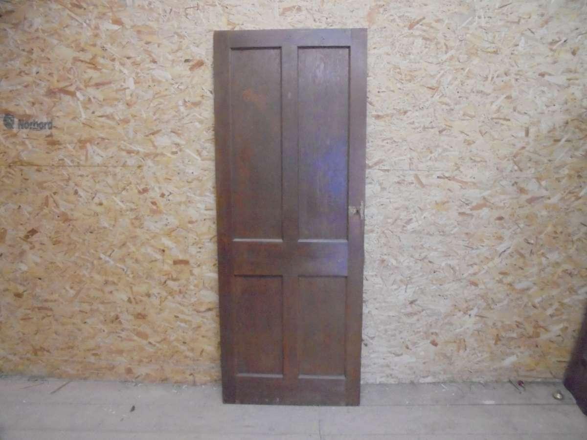 Reclaimed Varnished 4 Panel Door
