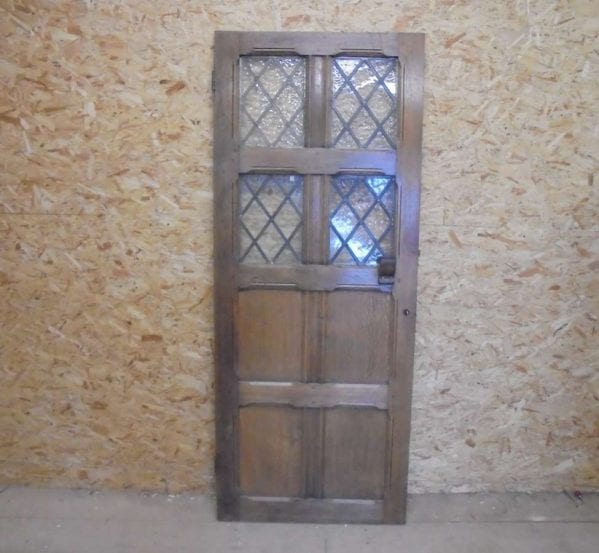 Reclaimed Oak Half Glazed Door