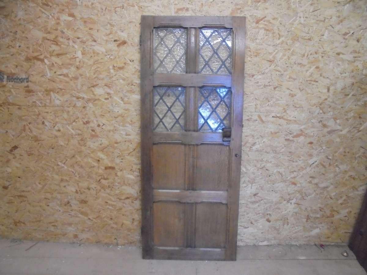 Reclaimed Oak Half Glazed Door