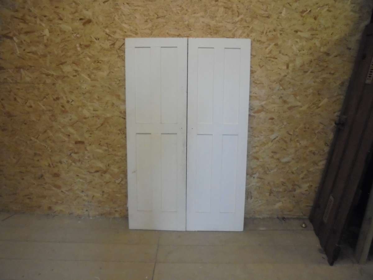 Reclaimed 4 Panel Door Pair