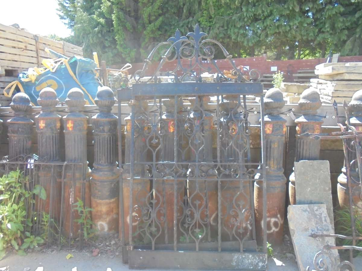 Reclaimed Arts & Crafts Wrought Iron Gates