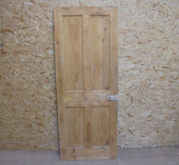 Stripped Beaded Reclaimed 4 Panel Door