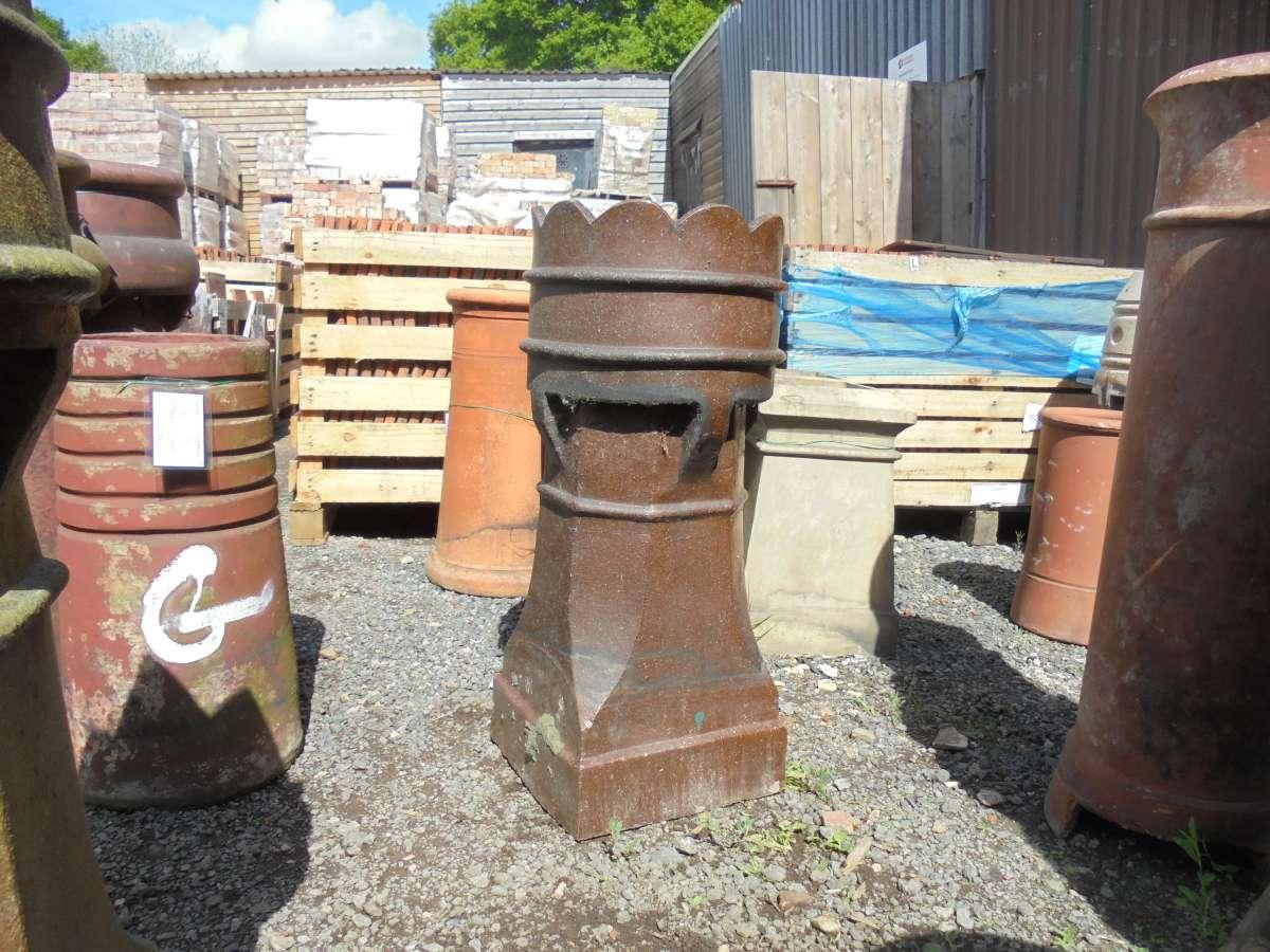 Reclaimed Dark Brown Queen Chimney Pot