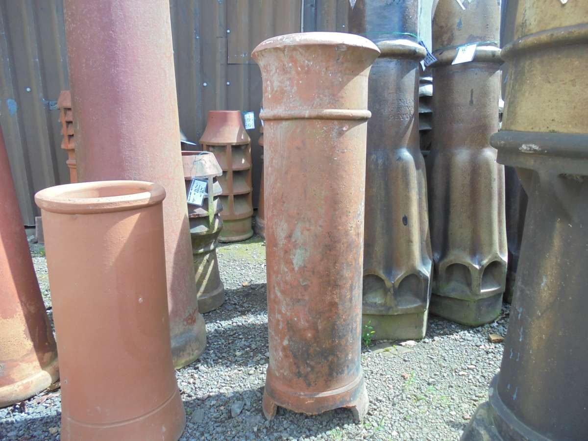 Reclaimed Tall Terracotta Cannon Chimney