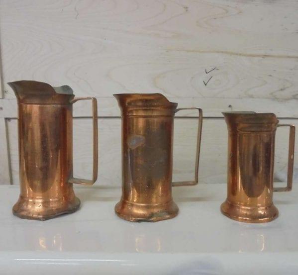 Reclaimed Trio Metal Measuring Jugs