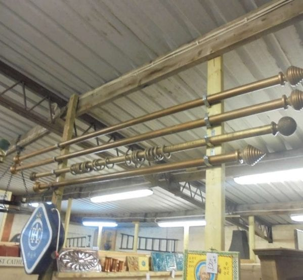 Reclaimed Wooden Curtain Poles