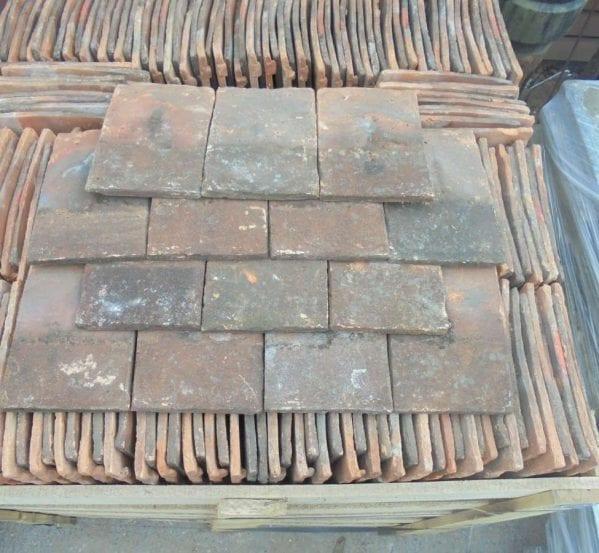 Reclaimed Weathered Handmade Clay Nib Tiles