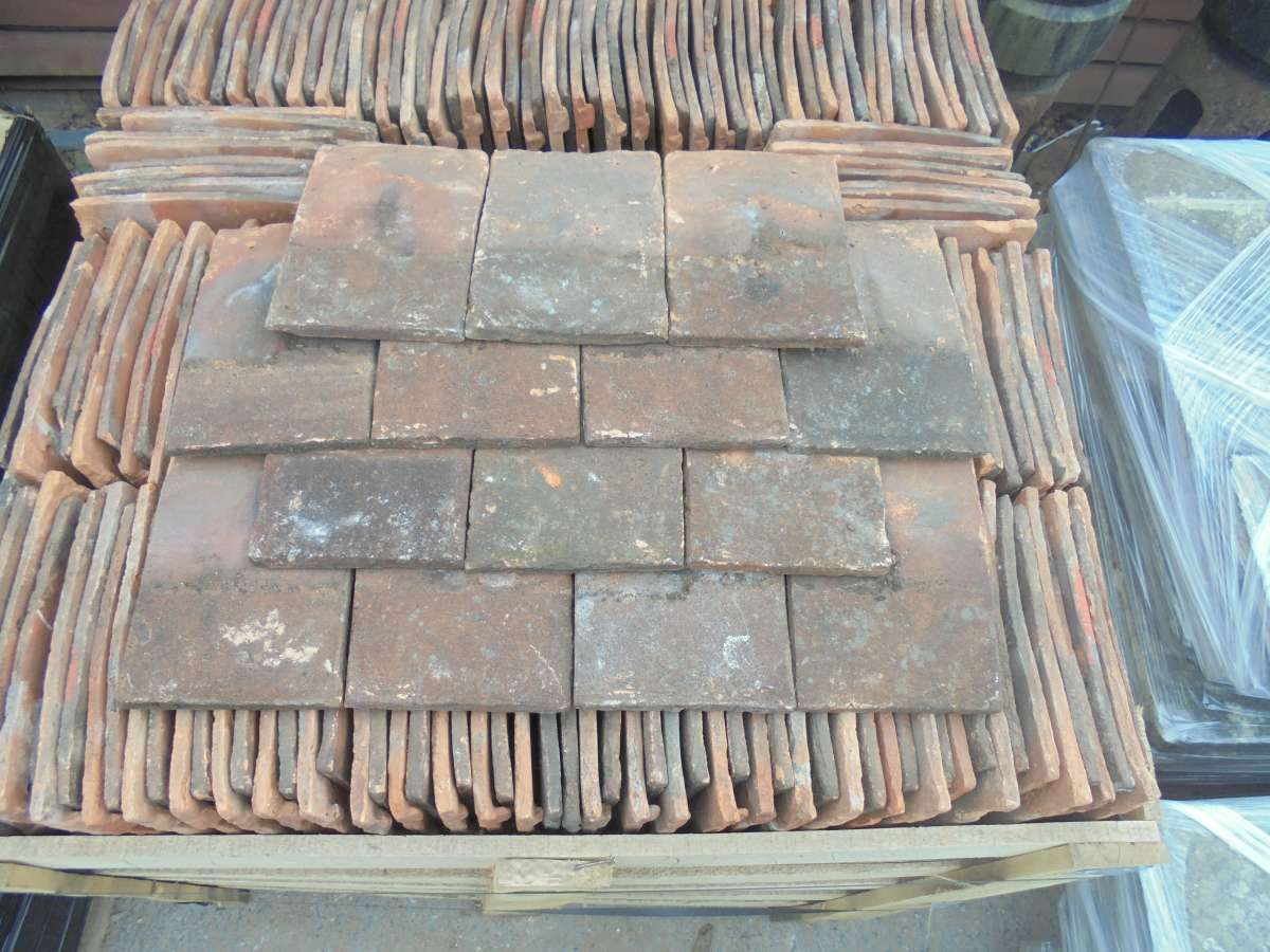 Reclaimed Weathered Handmade Clay Nib Tiles