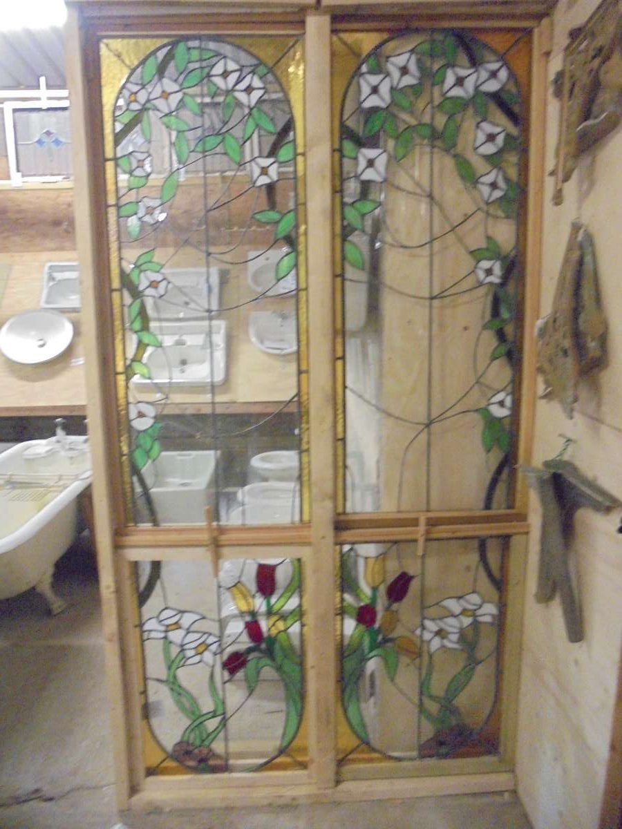 2 piece feature stained glass windows