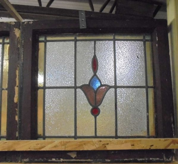 budding flower stain glass windows