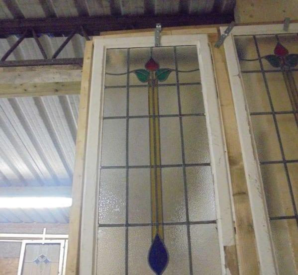 Extended rose stain glass windows