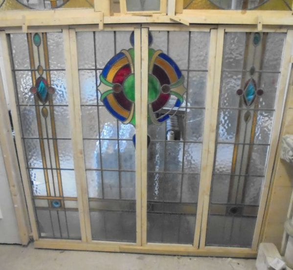 Four pane feature stained glass window
