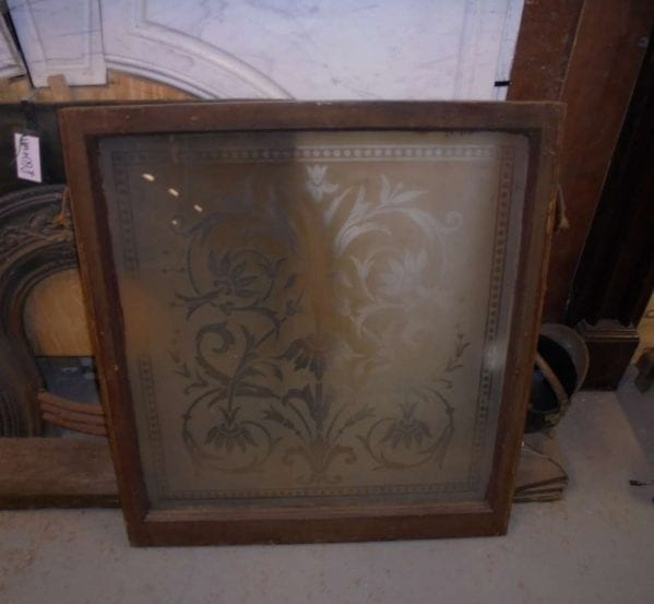 Square Frosted Glass Pattern Window