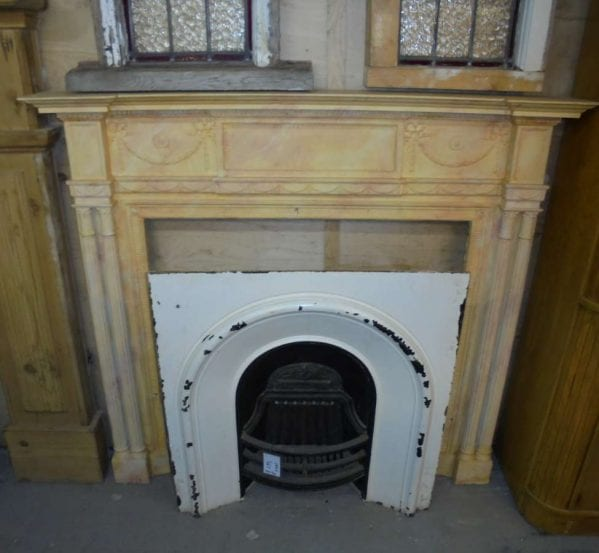 multi coloured fire surround