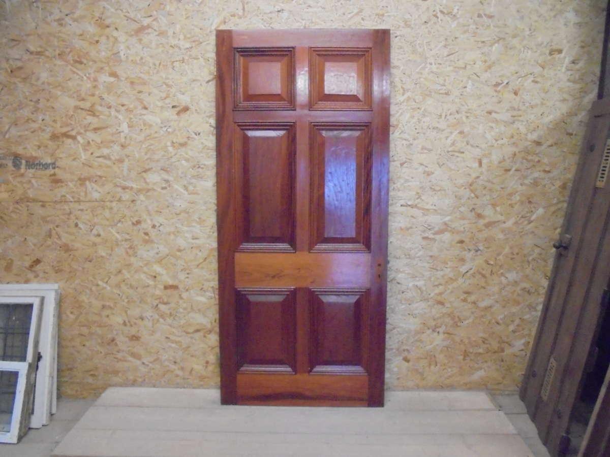 Reclaimed Mahogany 6 Panel Door