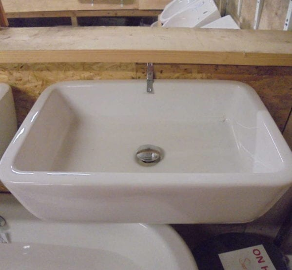Rectangular reclaimed sink