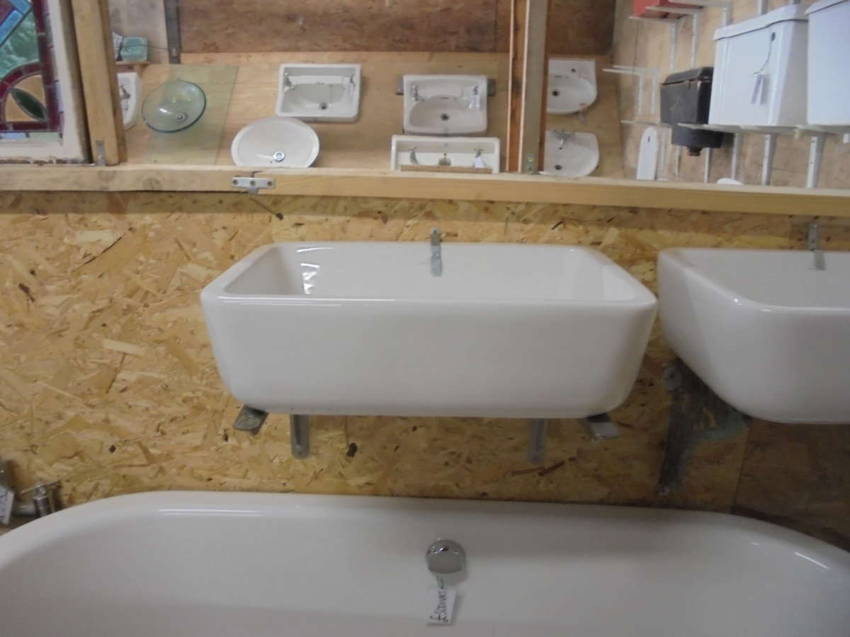 Rectangular reclaimed bathroom sink