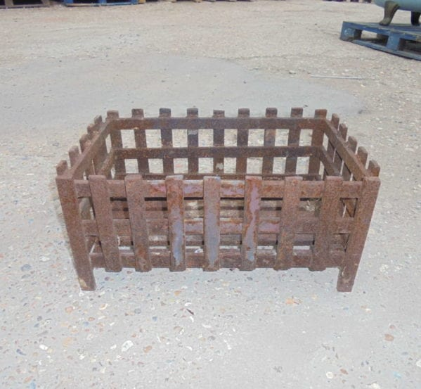 rectangular fire basket